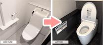 床クッションフロアと壁紙クロス4面貼替え(グレードアップ使用)ビフォーアフター