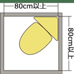 80cm×80cmのイラスト