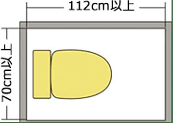 70cm×112cmのイメージ