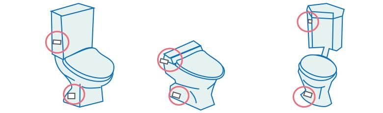 便器・タンクの品番確認方法