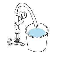 水圧測定器具による測定イメージ