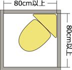 80cm X 80cm以上イメージ