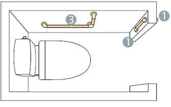 便器の正面にドアがある場合イメージ図