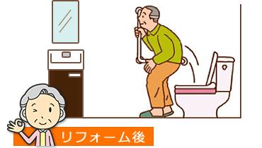 バリアフリーの床と手すりで安全に