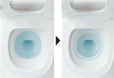 お掃除水位モードイメージ