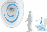 自動で便器洗浄
