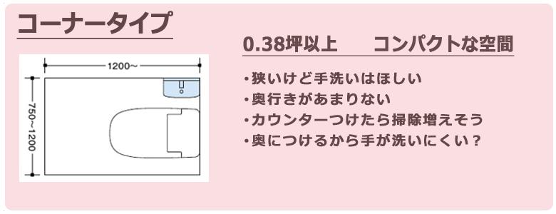 コーナー手洗い器の特徴とスタッフコメント
