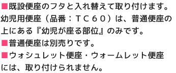 TC60の注意点