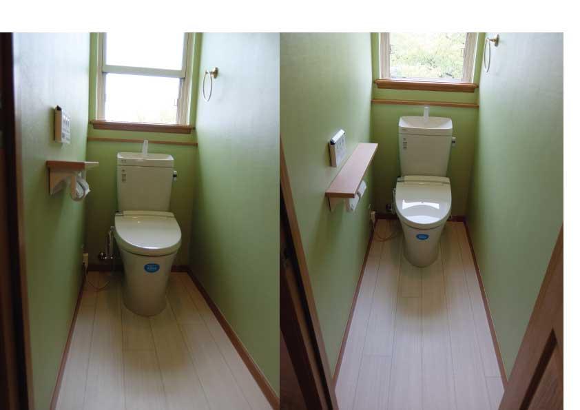 トイレの壁紙にアクセント トイレリフォーム専門店