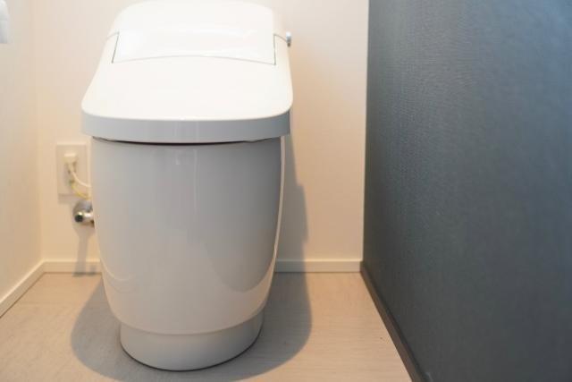 タンクレストイレと壁紙イメージ